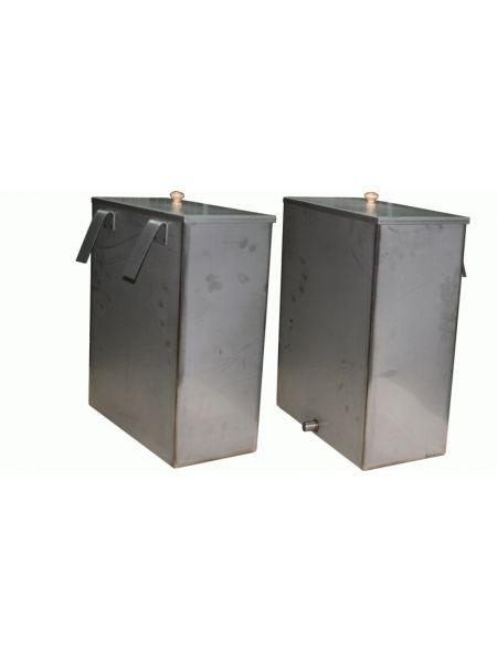 Металлический бак для воды в бане   строительство бани