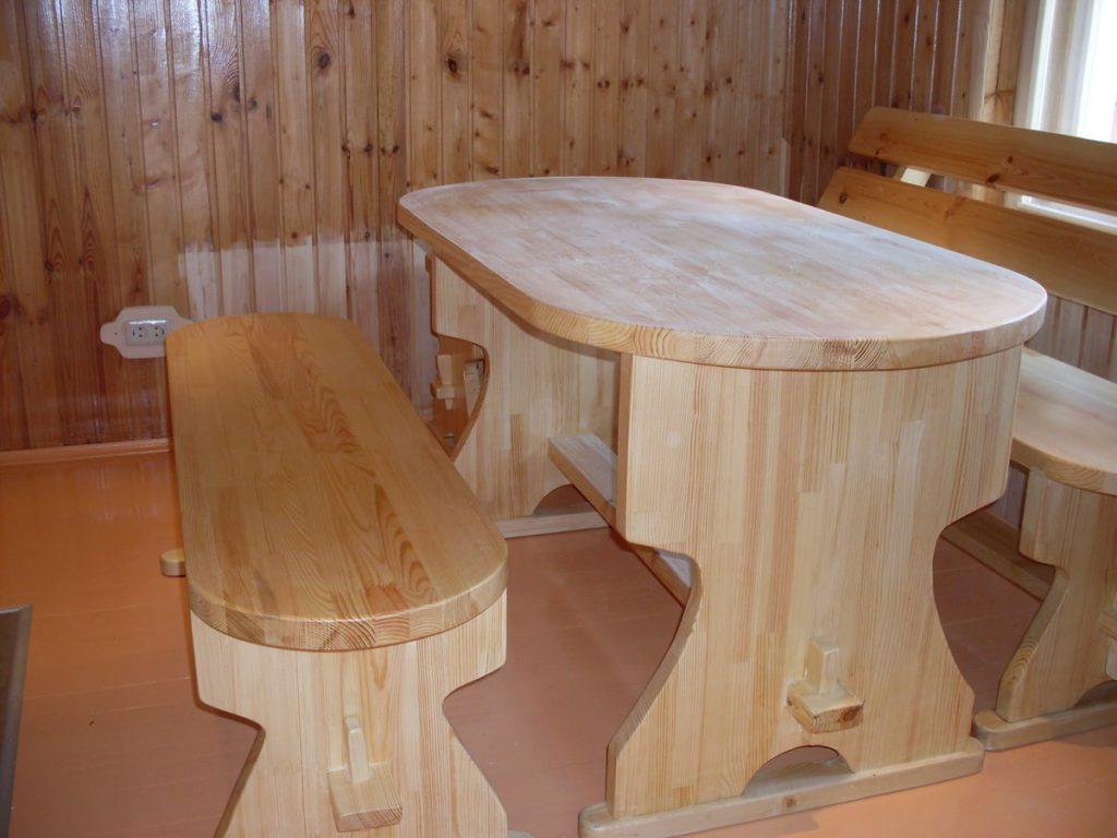 Изготовление стола в баню своими руками