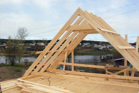 Как построить крышу бани?