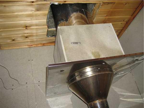 Правильно устанавливаем потолочно-проходной узел (ппу) дымохода в бане