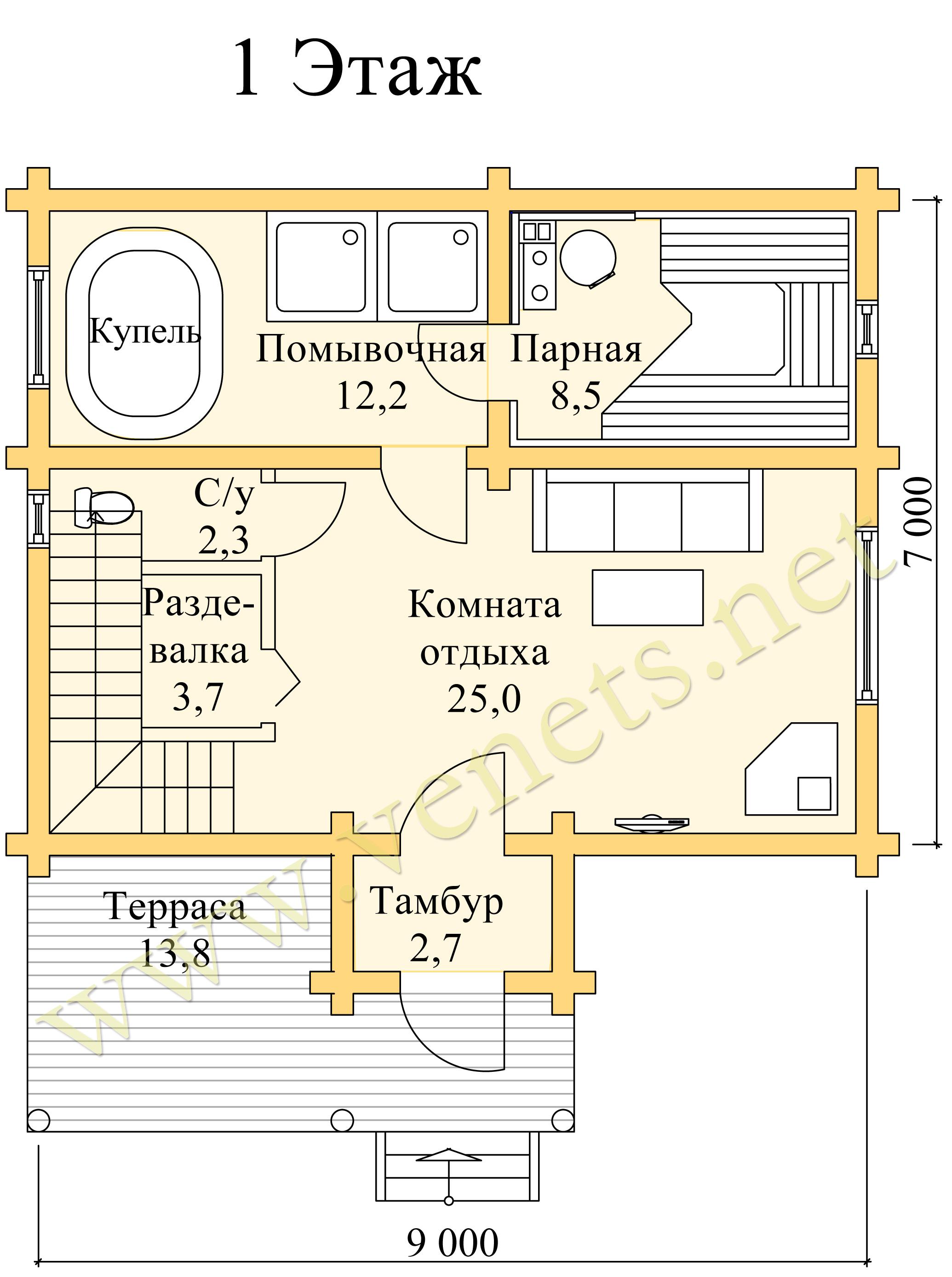 Баня в доме или отдельно - что выбрать?
