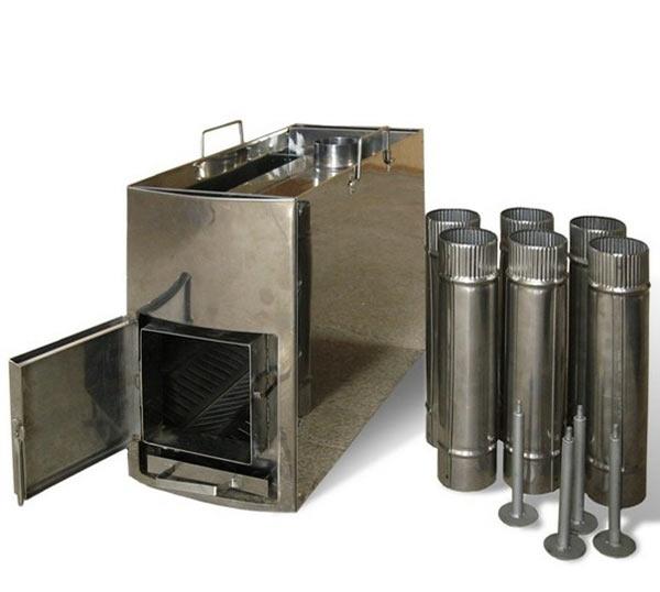 Самодельные металлические печи для бани: схемы и чертежи