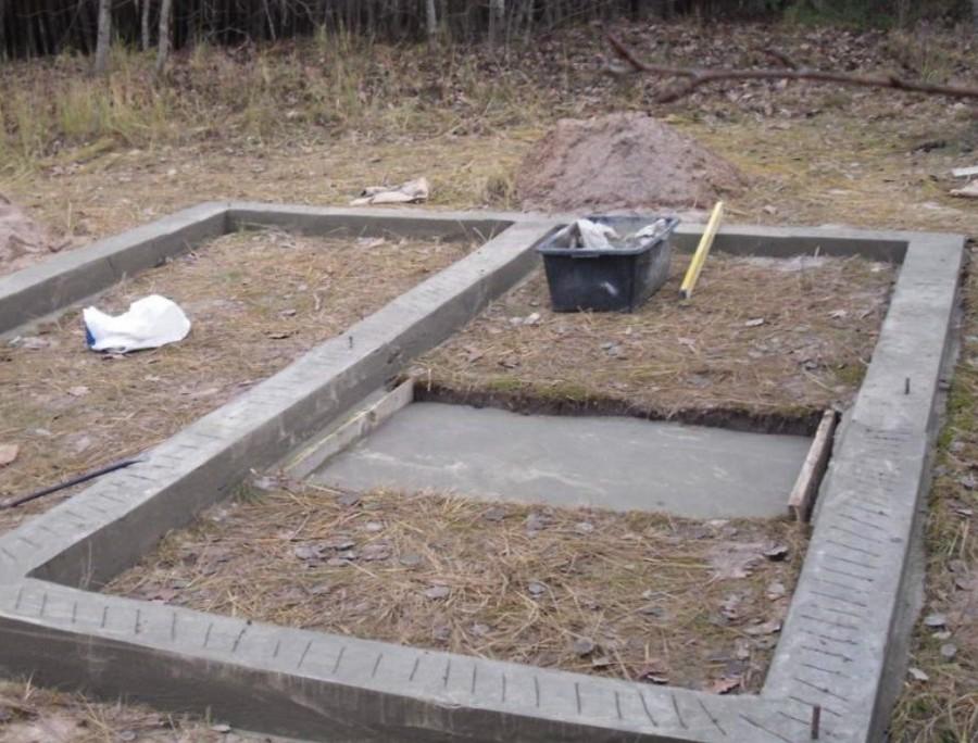 Фундамент под баню: какой лучше для бани, на какой ставить