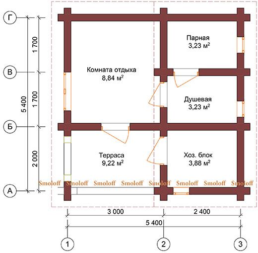Проекты бани с комнатой отдыха: особенности составления, виды
