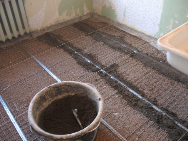 Самостоятельное устройство теплого бетонного пола в бани со сливом