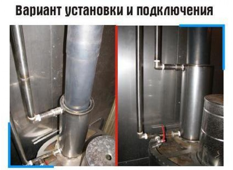 Теплообменник на трубу дымохода своими руками - установка в баню или гараж пошагово