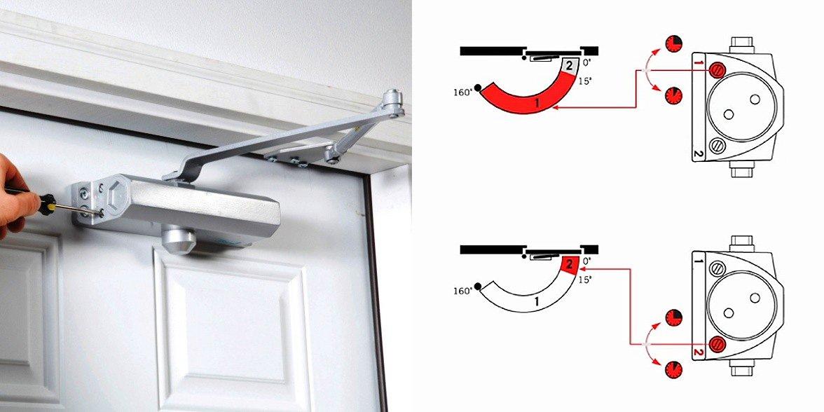Установка доводчика на металлическую дверь: как правильно установить механизм на входную дверь? монтаж устройства своими руками