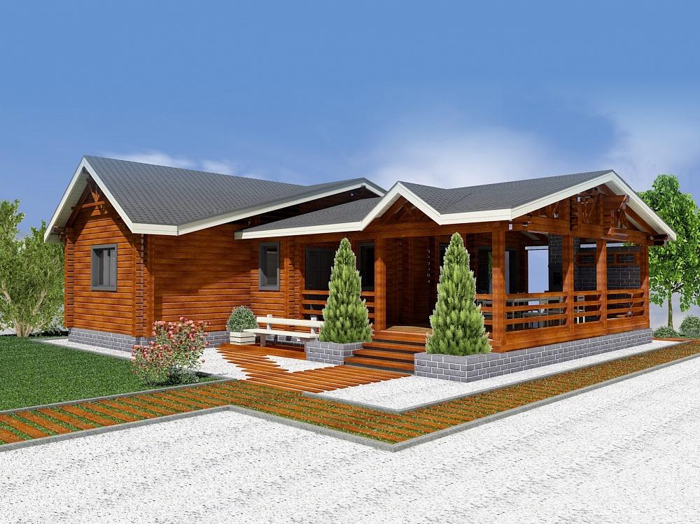 Гостевой дом с баней: лучшие проекты из бревна под ключ - строительство гостевых домиков-бань в городлес