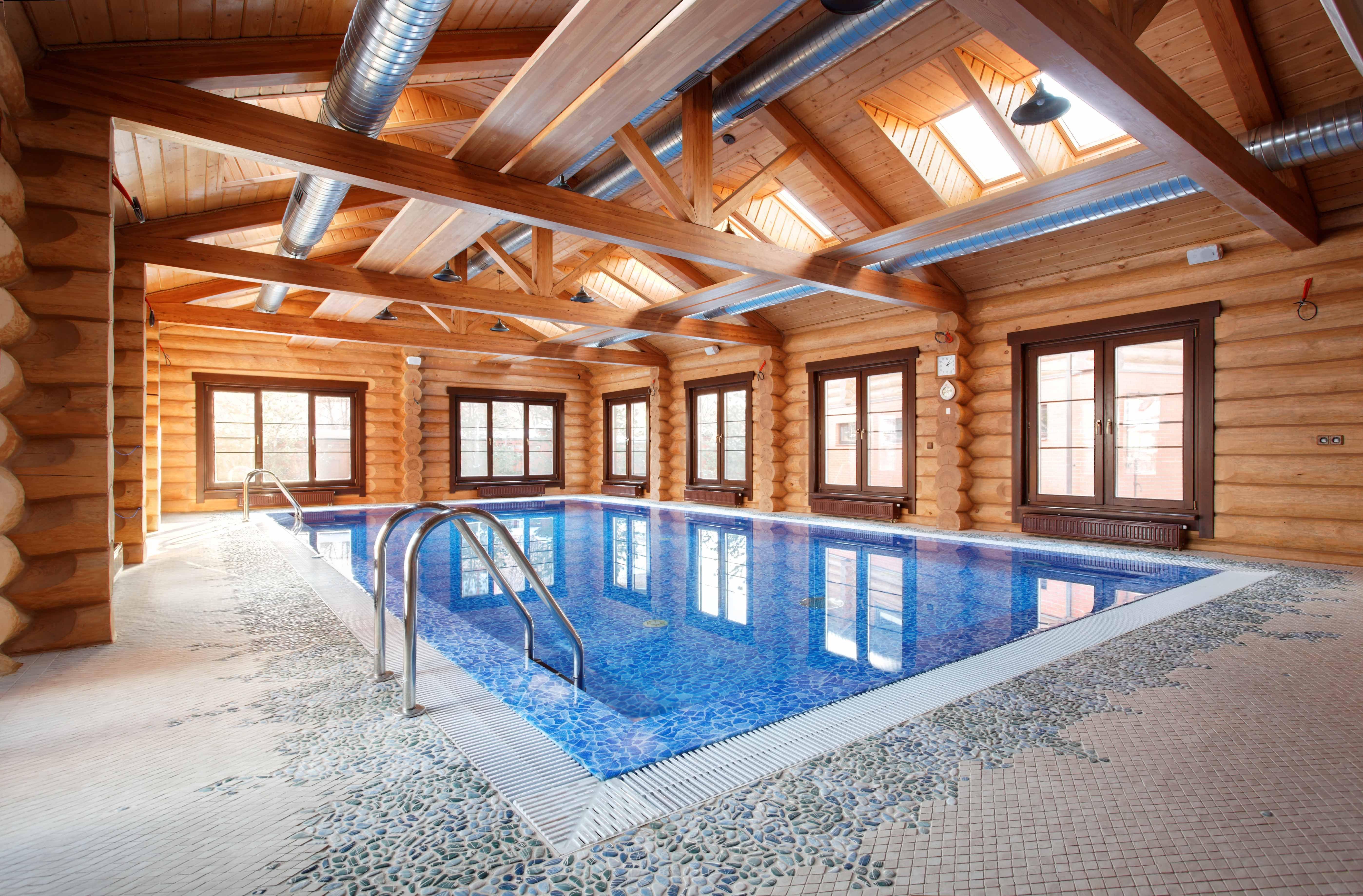 Баня с бассейном – образцы строительства примеры проектирования
