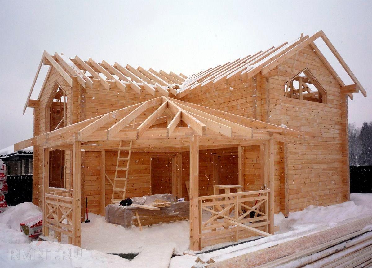 Зимнее строительство деревянных бань и домов. Сооружению конструкции быть или не быть?