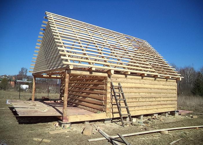 Крыша бани своими руками: инструкция по возведению