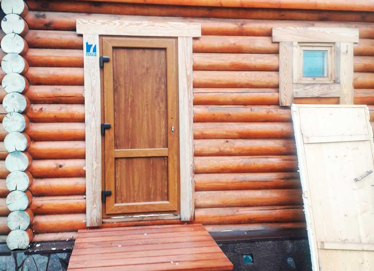 Двери пластиковые в баню - строим баню или сауну