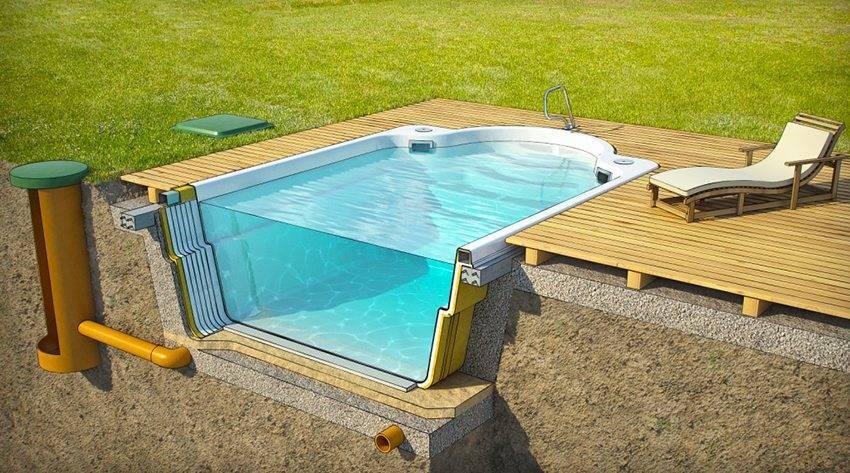Бассейн на даче, осуществлем мечту, фото примеров
