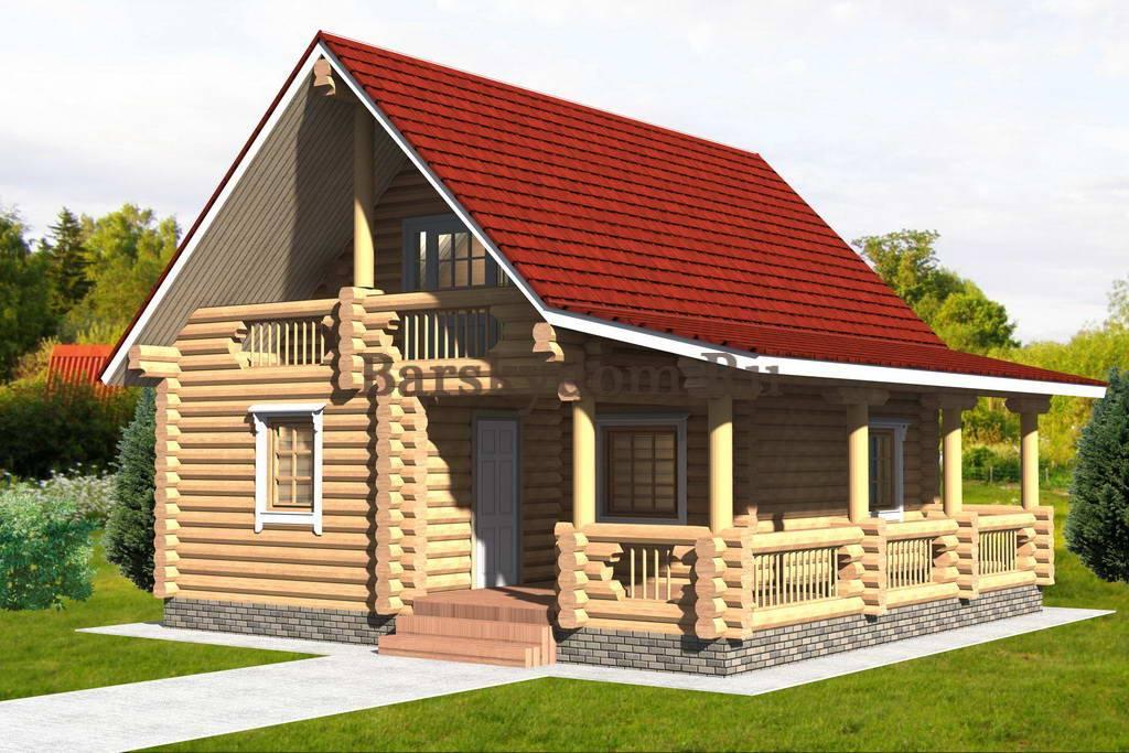 Проекты бань с мансардой: дом-баня с верандой или террасой размером 6х6 и 6х8, варианты из бруса и бревна 6 на 4 и 5 на 8, фото, видео