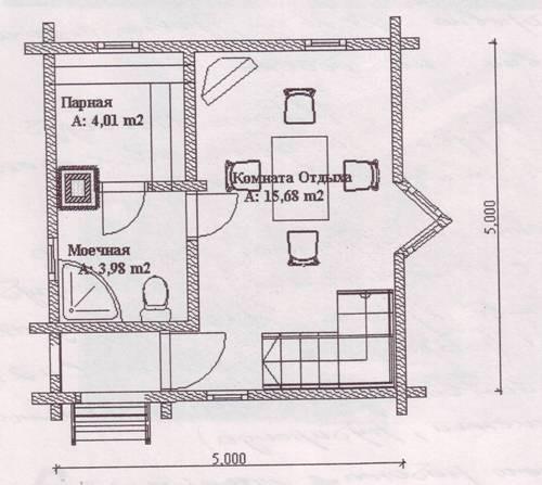 Баня из бруса 4 на 4: особенности фундамента под сауну, стены, возведение крыши и утепление