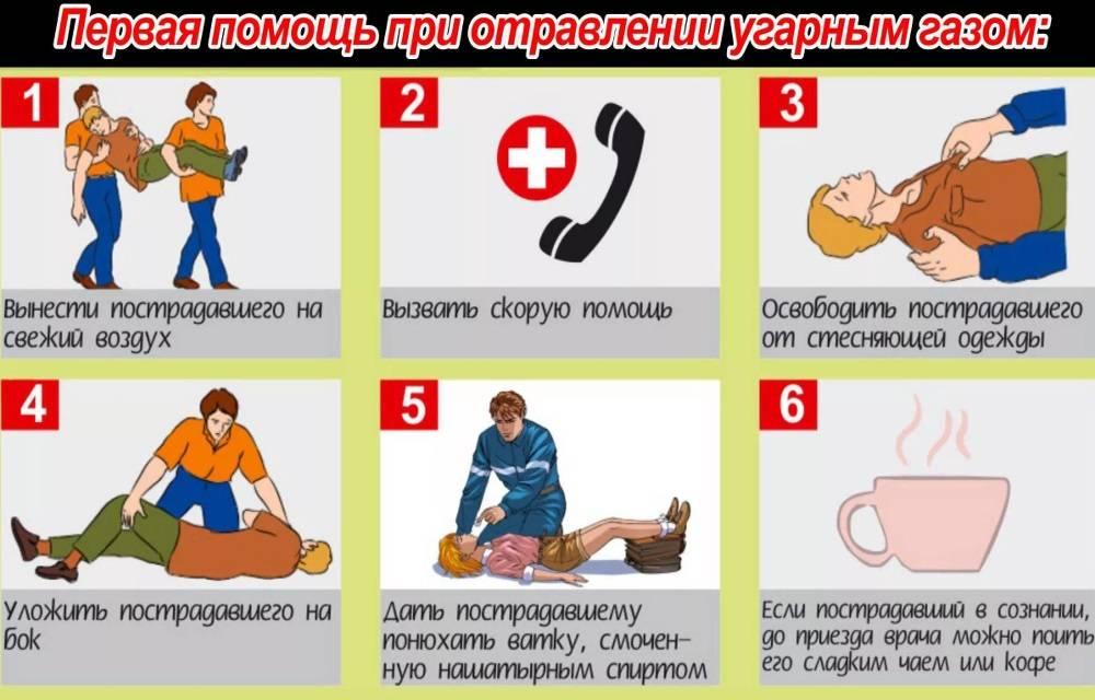 Оказание первой помощи при отравлении угарным газом. Будьте бдительны – спасите человеку жизнь!