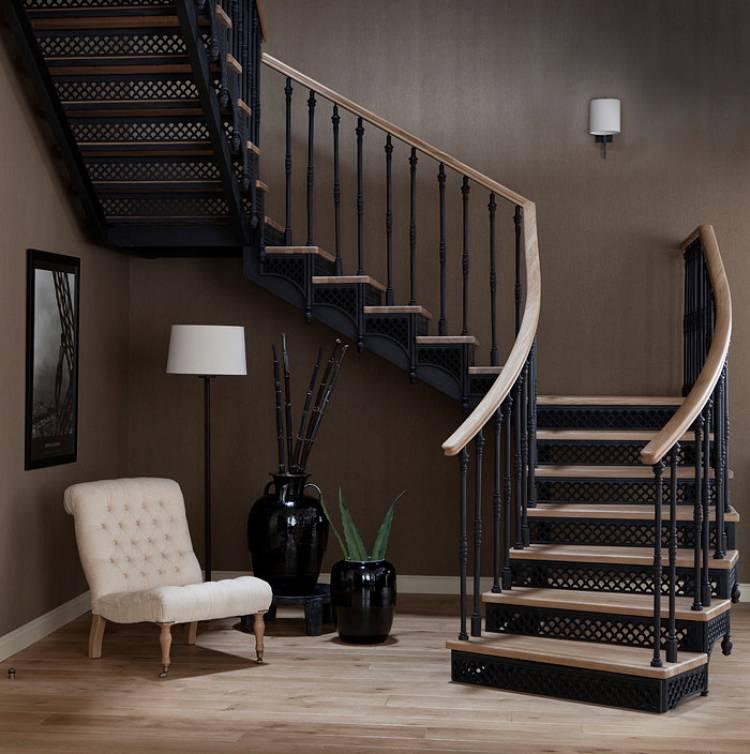 Лестница деревянная в интерьере: варианты дизайна