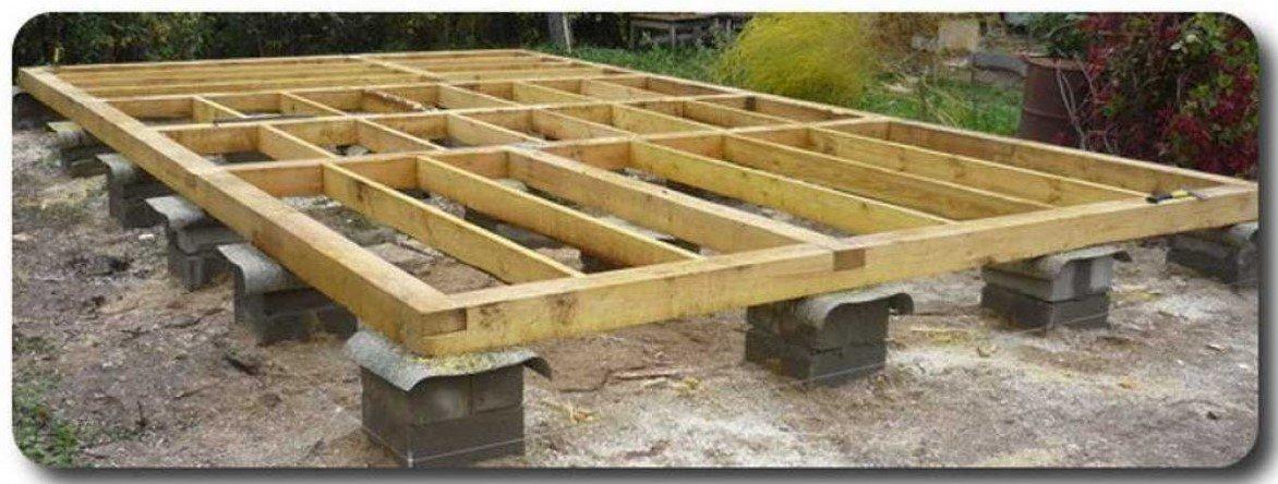 Столбчатый фундамент для бани: требования и технология установки