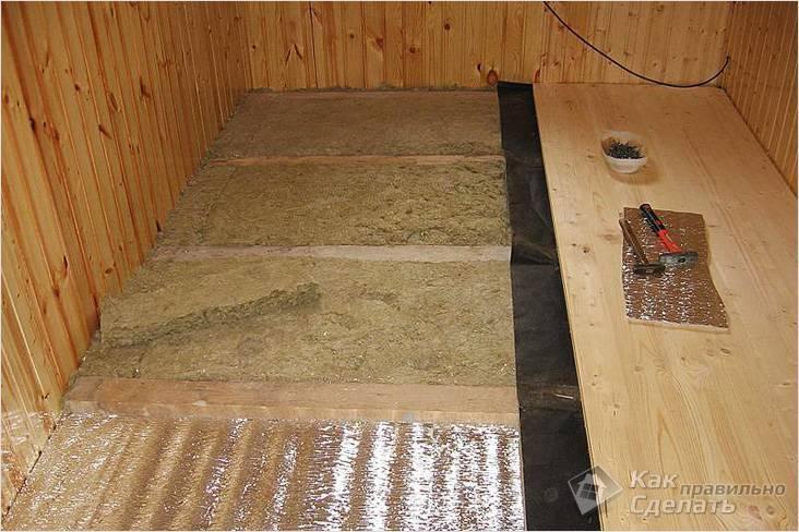 Создание комфортных и благоприятных условий в бане путем утепления бетонного пола