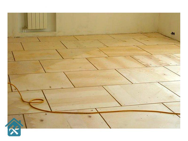 Укладка фанеры на бетонный пол - подробная инструкция!