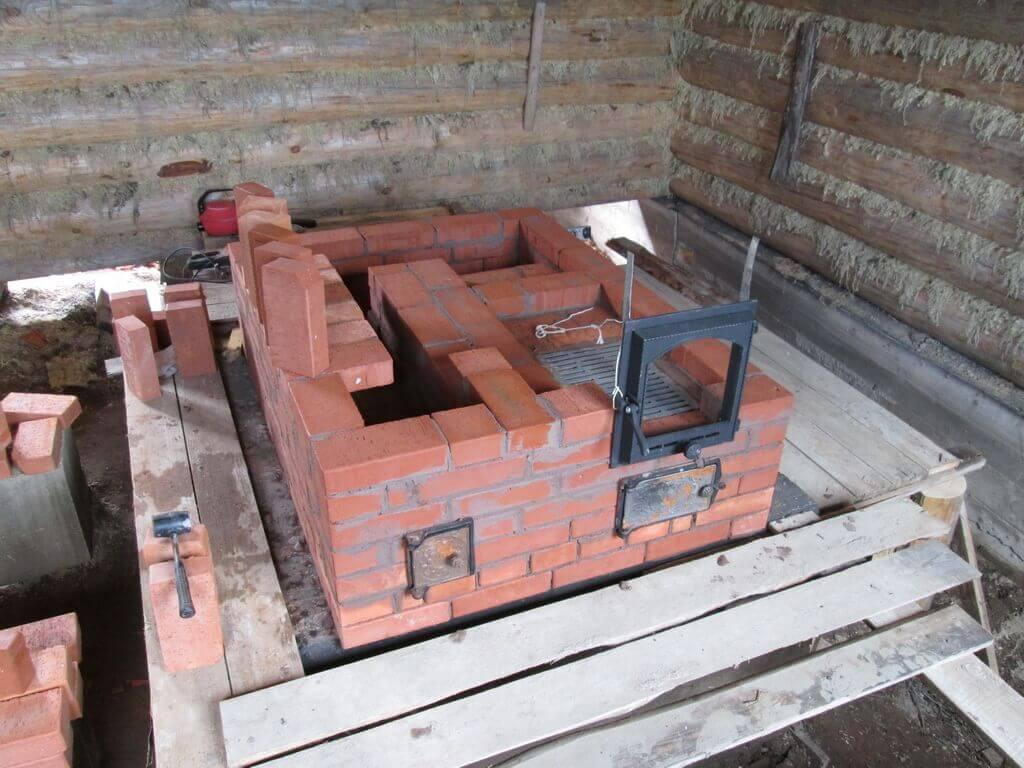 Печь из кирпича для бани: каменка своими руками, проект кирпичной банной печки, схема порядовки, кладка, как класть, фото и видео