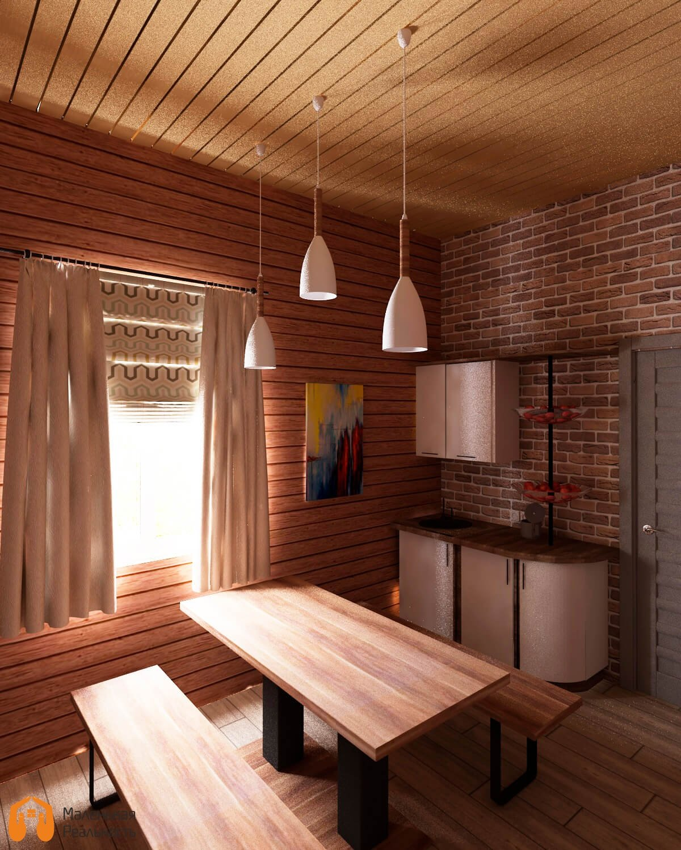 Отделка комнаты отдыха в бане: оформление и интерьер