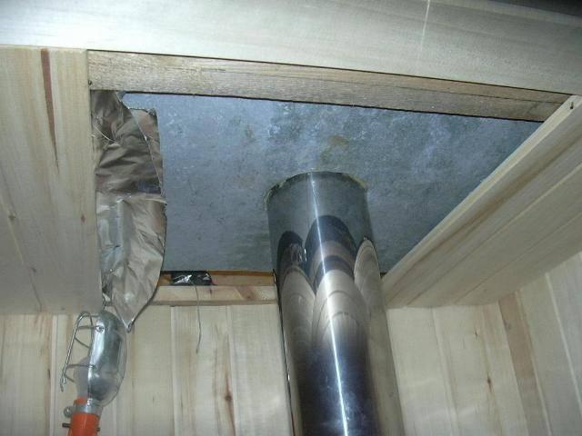 Как сделать дымоход в бане через потолок: правила, способы и используемые материалы