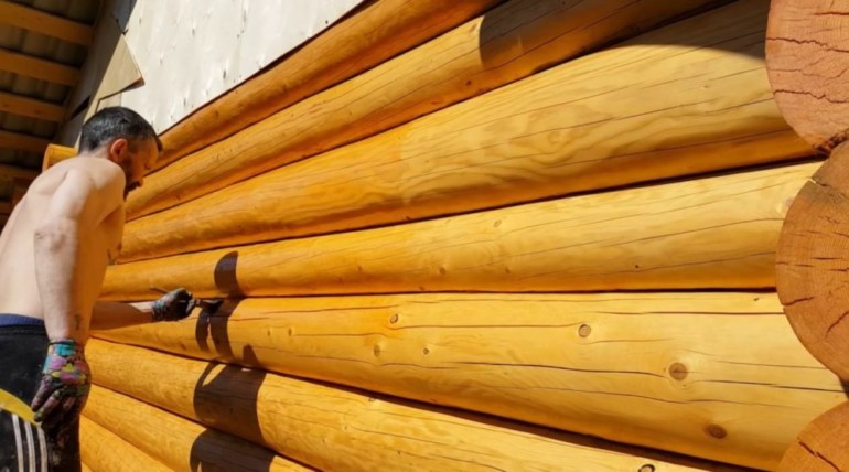 Обработка сруба из бруса или бревна — чем лучше сделать защиту дома внутри и снаружи