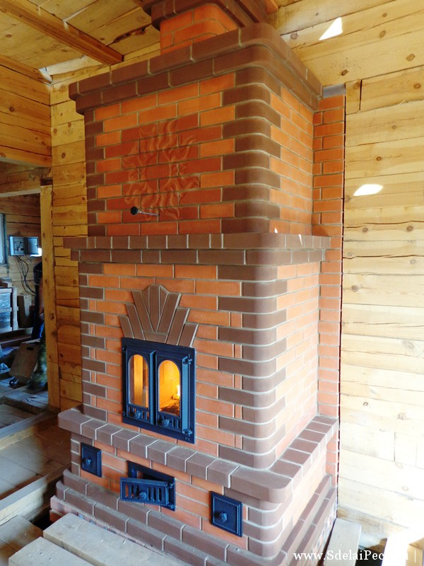 Камин-печь из кирпича (74 фото):  кирпичная кладка варианта для загородного дома