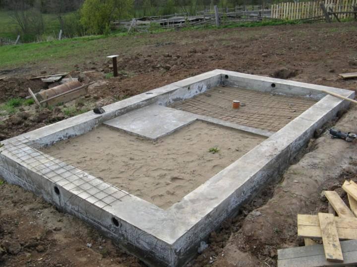 Пошаговая инструкция, как построить ленточный фундамент для бани 4х6 своими руками