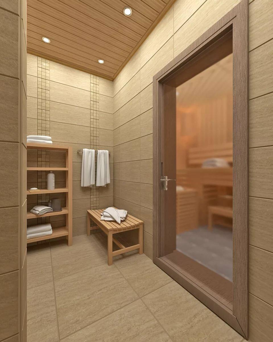 Дизайн помывочной в бане