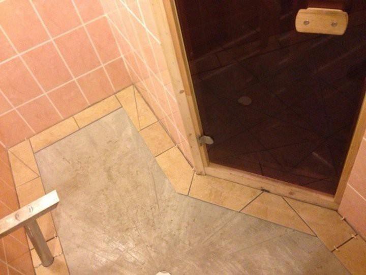 Как правильно положить плитку в бане