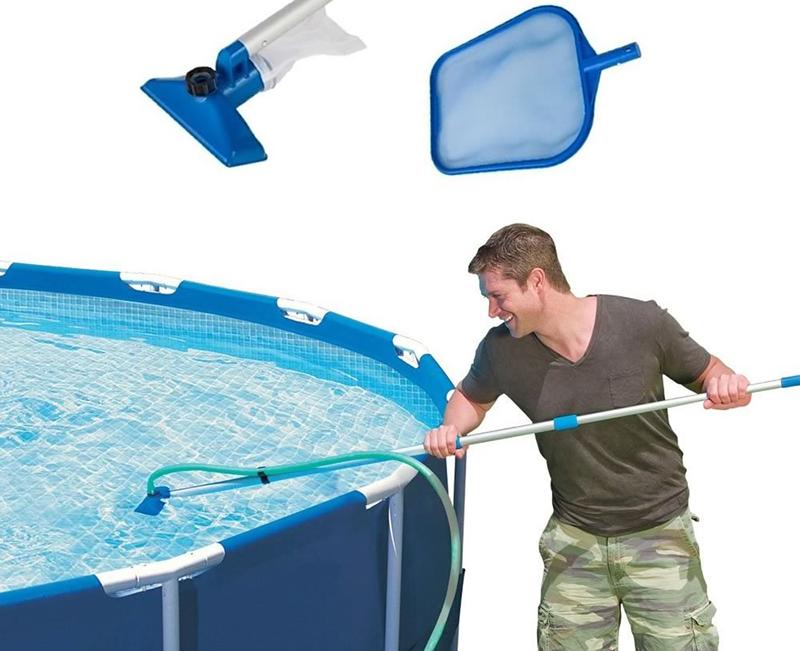 Чистка бассейна (44 фото): очистка воды коагулянтом, таблетками и пергидролем, набор оборудования. чем помыть чашу бассейна после слива?
