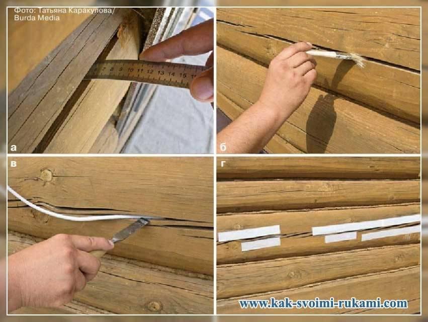 Заделка щелей в деревянном доме: конопатка, пробивка, герметизация - 1drevo.ru