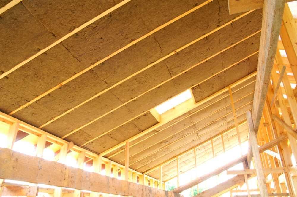 Потолок в бане с мансардой