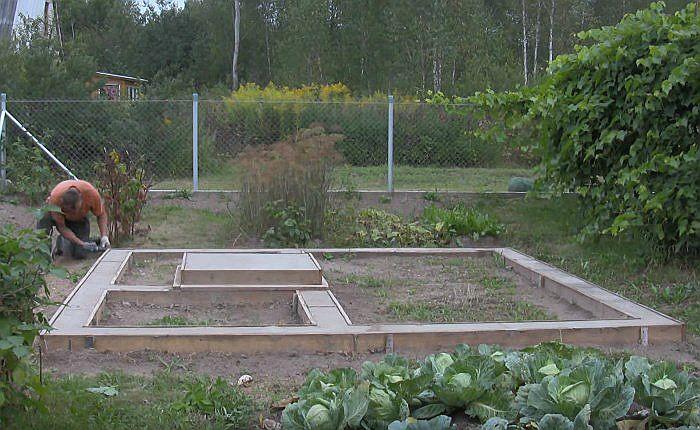 Фундамент для каркасной бани, с проливным полом, со сливом, плита: все виды