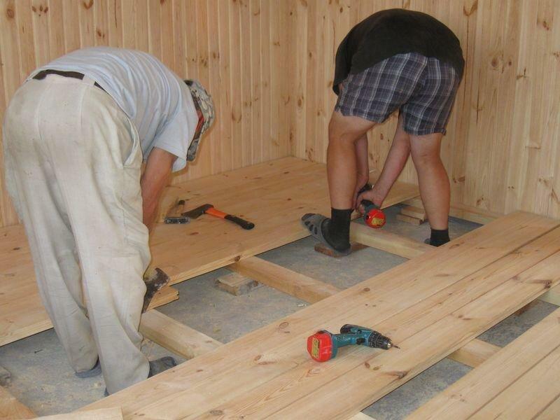 Правильное устройство деревянного пола в бане – пошаговое руководство