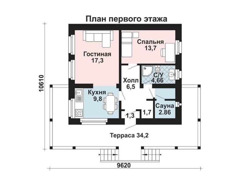 Проекты одноэтажных бань