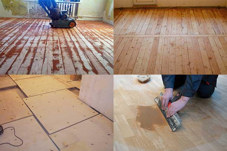 Как выровнять деревянный пол не срывая доски