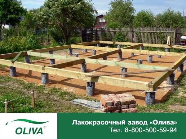 Как возвести столбчатый фундамент под баню?