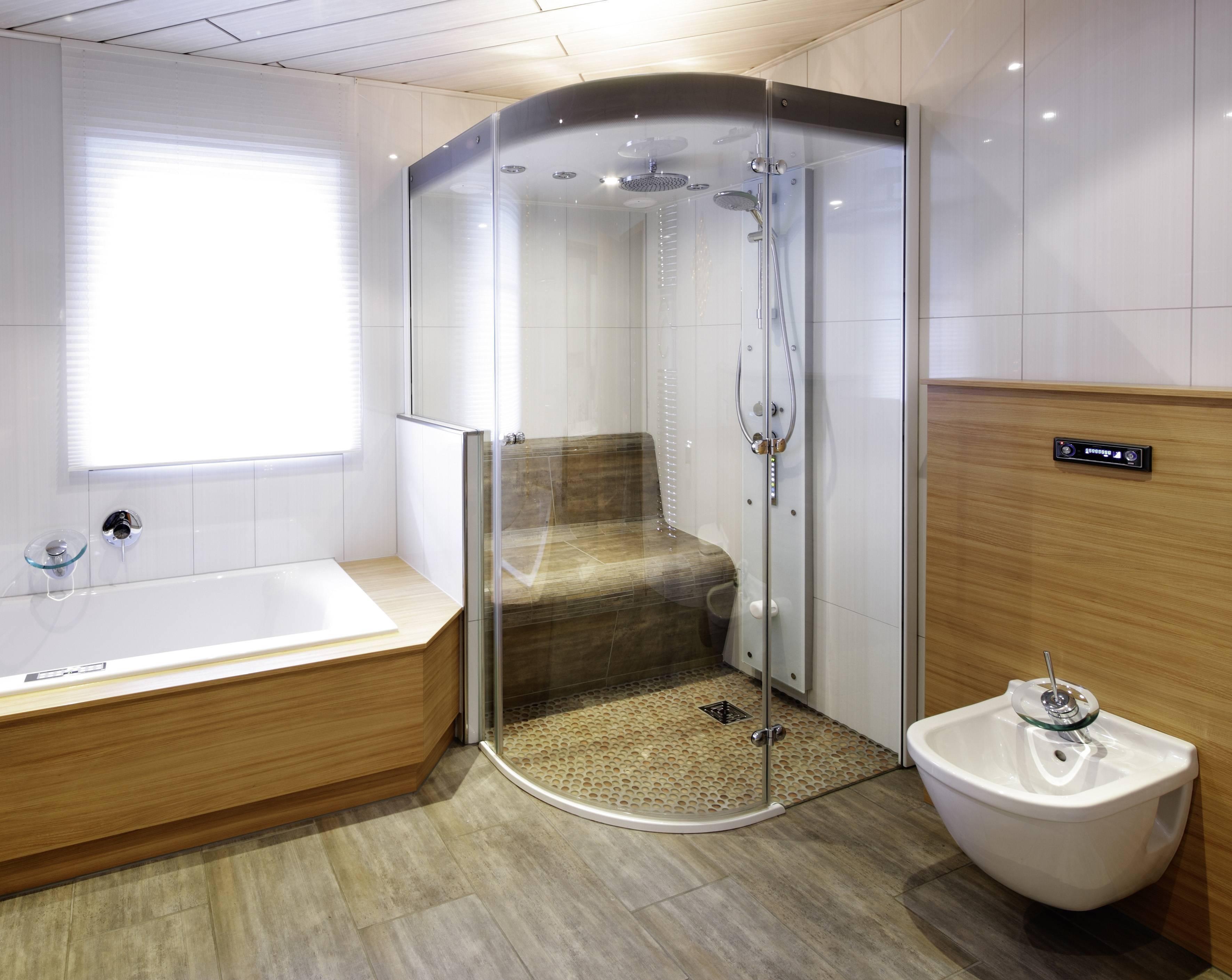 Душевые кабины с парогенератором и сауной для квартиры: турецкая и финская баня, инфракрасная парилка с эффектом сухого пара