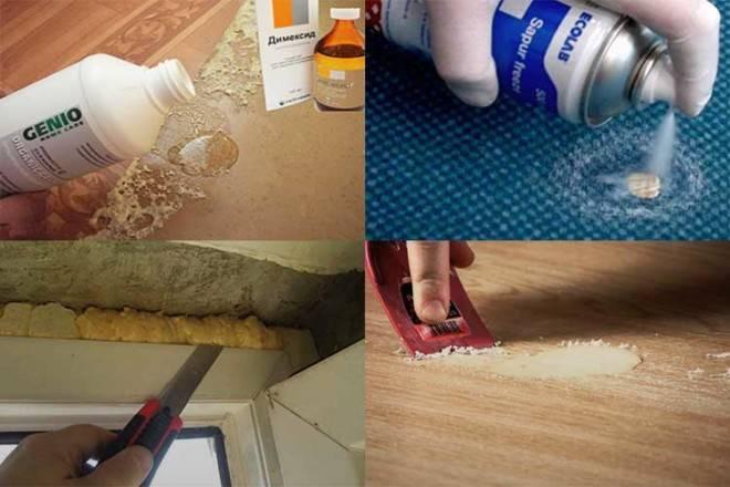 Чем оттереть монтажную пену с дерева, пластика, металла и стекла