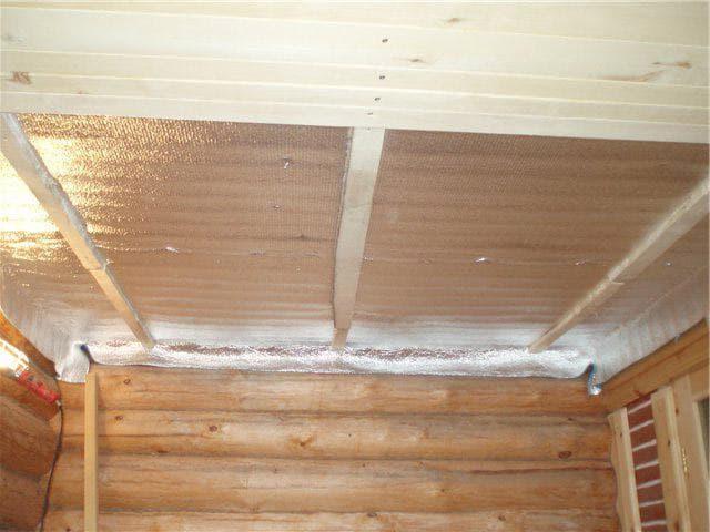 Утепление потолка в бани - способы