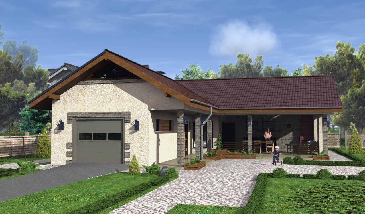 Гараж и баня под одной крышей: проекты с хозблоком, летней кухней совмещенной с баней
