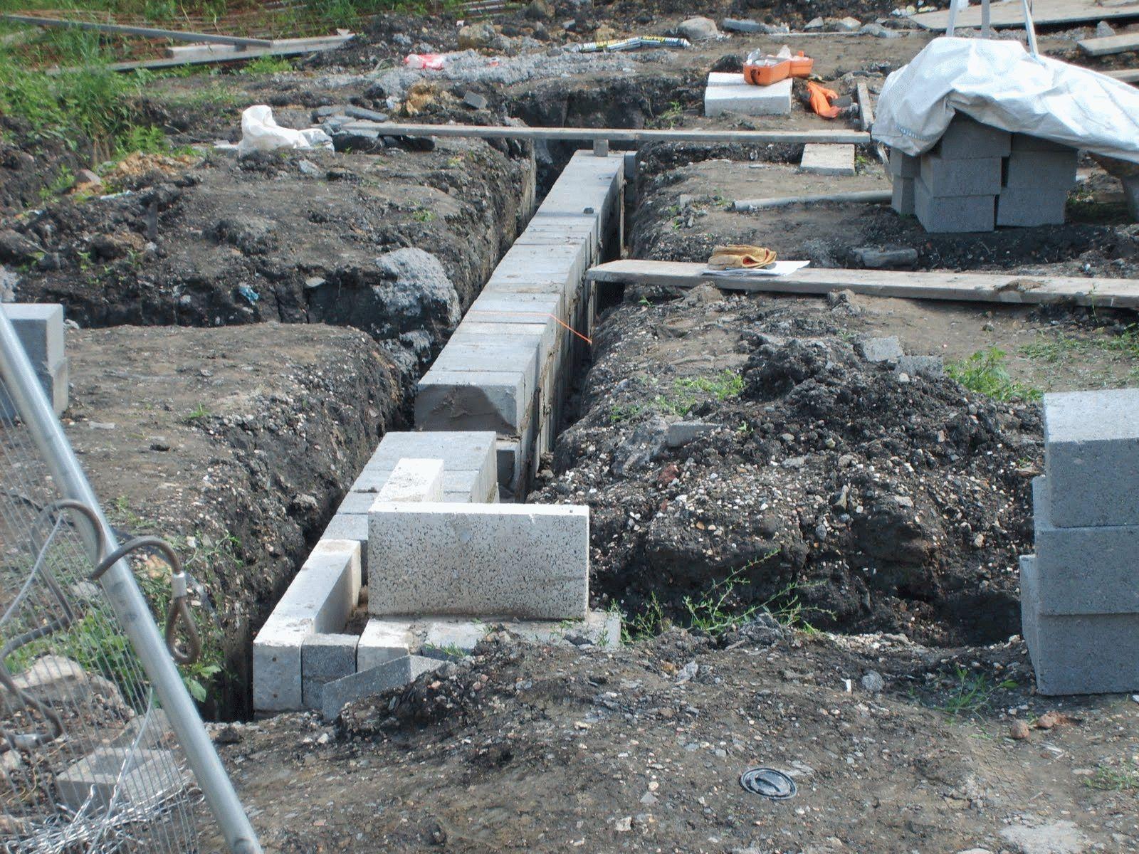 Фундаментные блоки под баню