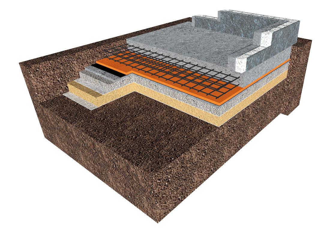 Гидроизоляция монолитной плиты фундамента: виды и способы