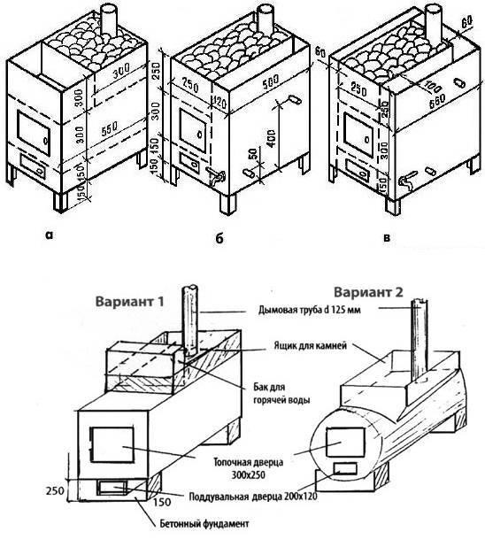Как сварить печь для бани своими руками: чертежи и cхемы, пошаговый алгоритм