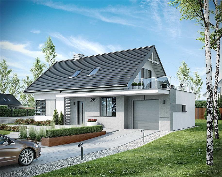 Проекты одноэтажных домов и коттеджей под одной крышей с гаражом, фото, цены в москве