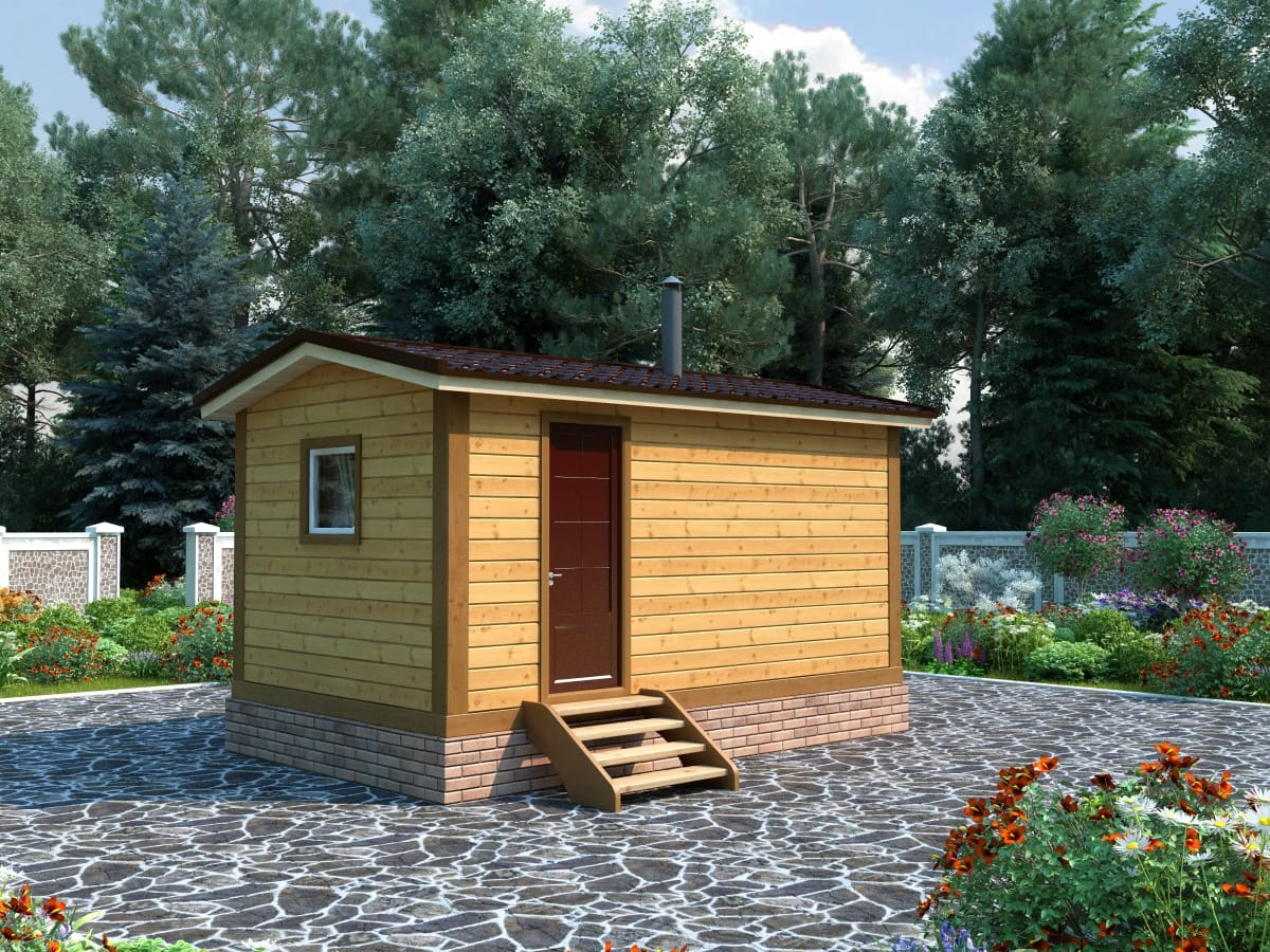 Мини-баня для дачи своими руками: строительство, чертежи + фото