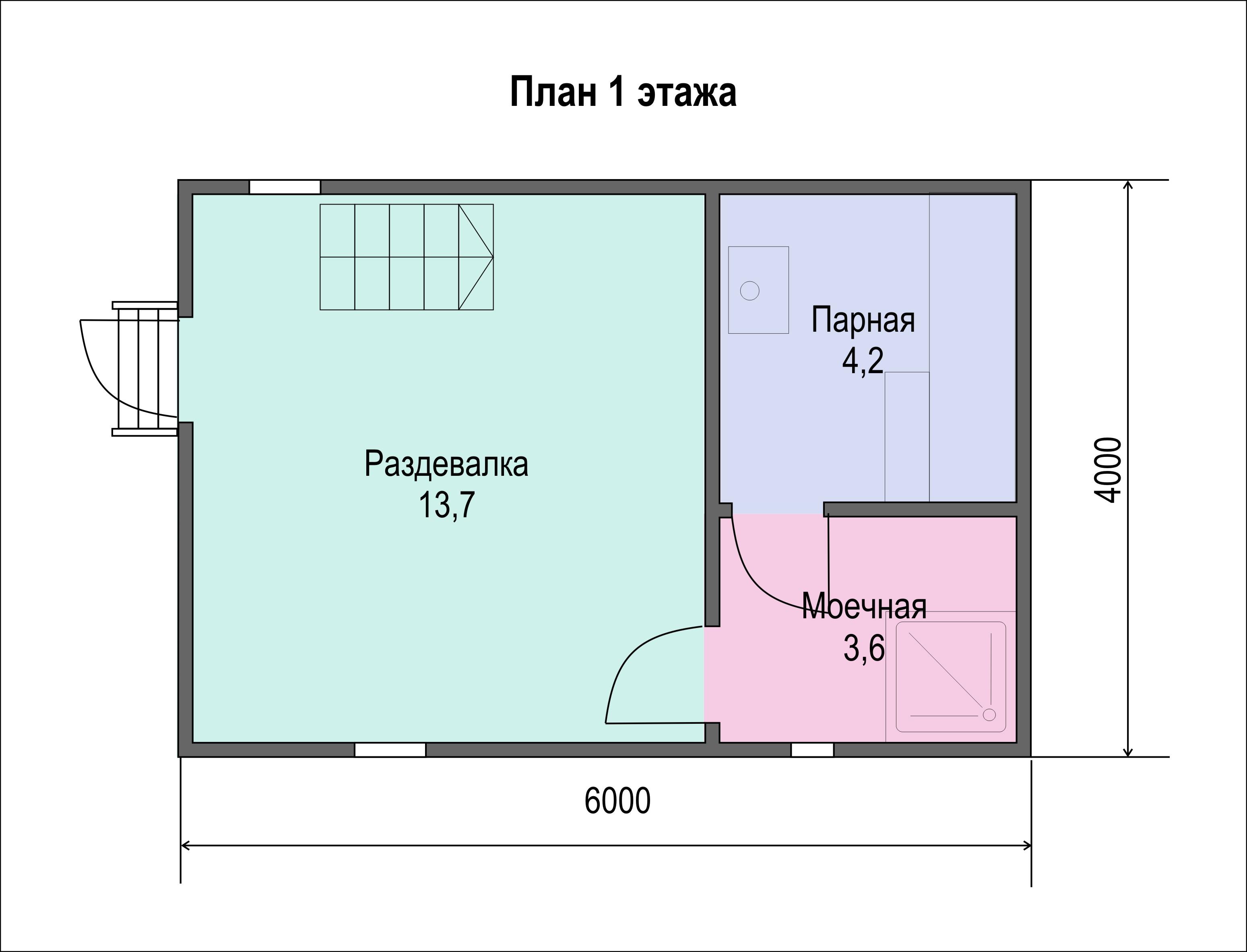 Бани 6х4 с террасой – варианты планировок и популярные проекты строительства в москве, фото